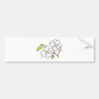 White Dogwood Bumper Sticker
