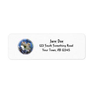 White Dogwood Flower address label