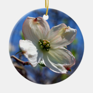 White Dogwood Flower ornament