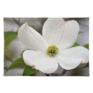 White Dogwood Flower Placemats