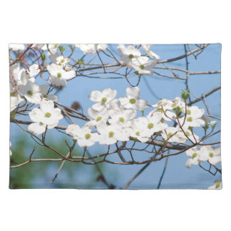 White Dogwood Flowers Placemats