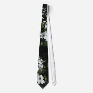 White Dogwood Flowers Tie