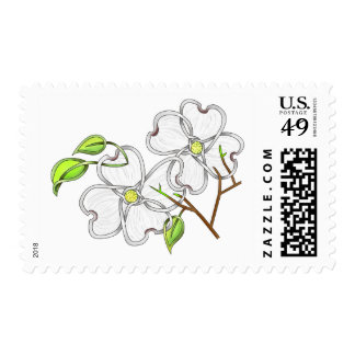 White Dogwood Stamps