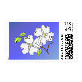 White Dogwood Postage Stamps