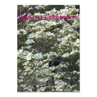 White Dogwood Tree Personalized Invitation