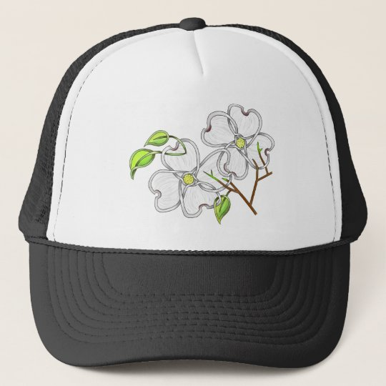White Dogwood Trucker Hat