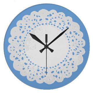 White Doily Clock