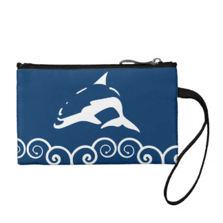 white DOLPHIN Coin Purse