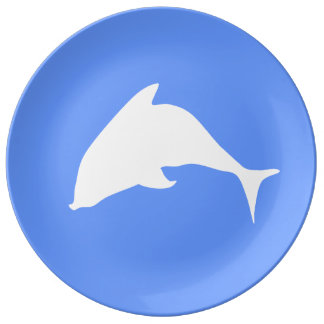 White Dolphin Plate