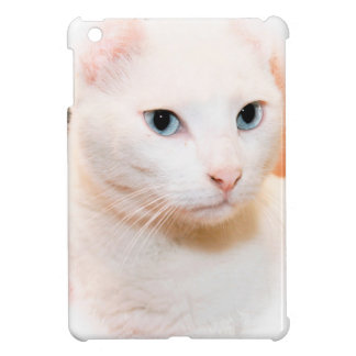 WHITE DOMESTIC SHORTHAIR CAT IPAD MINI CASE