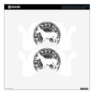 WHITE DONKY MAYA CIRCLE  PRODUCTS PS3 CONTROLLER DECALS