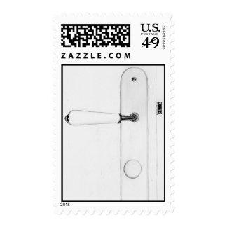 White Doorknob Stamp