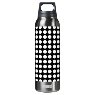 White dot thermos water bottle