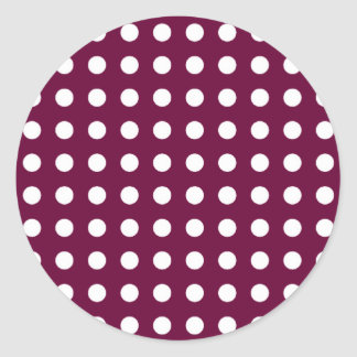 White dots classic round sticker
