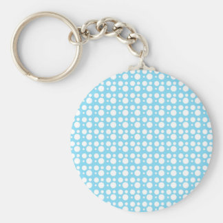 white dots, light blue keychain