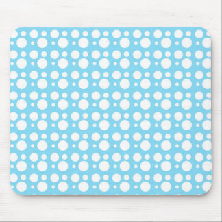 white dots light blue mouse pad