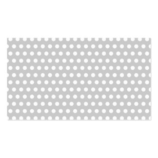 White Dots on Light Grey Business Cards