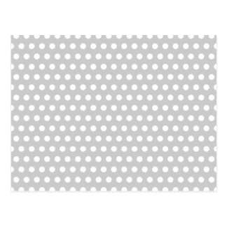 White Dots on Light Grey Postcard