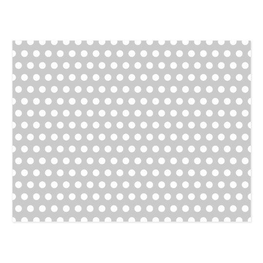 White Dots on Light Grey Postcard