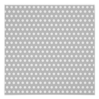 White Dots on Light Grey Poster