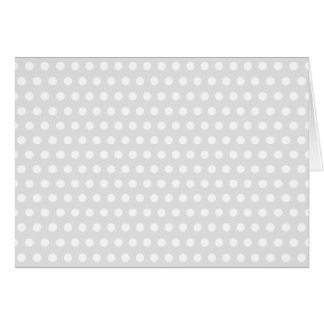 White Dots on Pale Gray Card