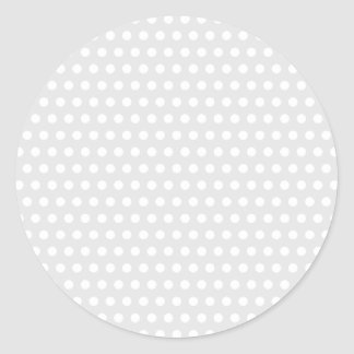 White Dots on Pale Gray Classic Round Sticker