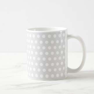 White Dots on Pale Gray Coffee Mug