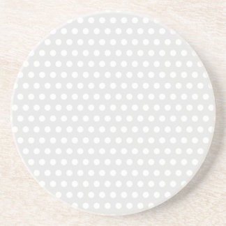White Dots on Pale Gray Drink Coaster