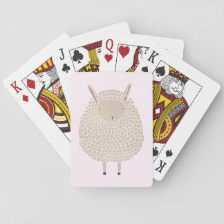 White Dots Round Sleeping Sheep Playing Cards