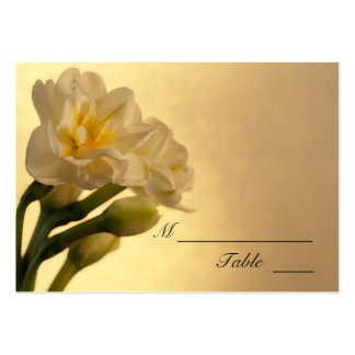 White Double Daffodils Spring Wedding Place Card