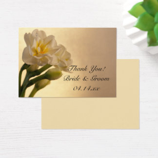 White Double Daffodils Wedding Favor Tags