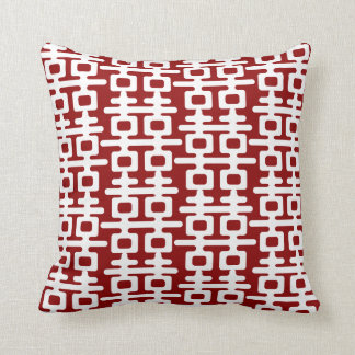 White Double Happiness Pattern Red Chinese Wedding Throw Pillows