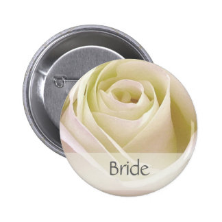 White double rose Bride Pin