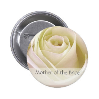 White double rose Mother of the Bride Pin