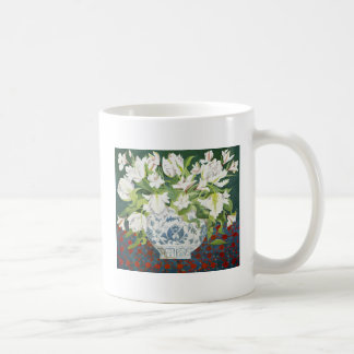 White double tulips and alstroemerias 2013 coffee mug