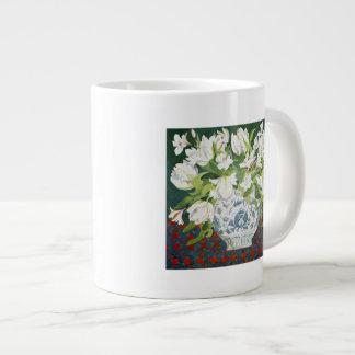White double tulips and alstroemerias 2013 large coffee mug