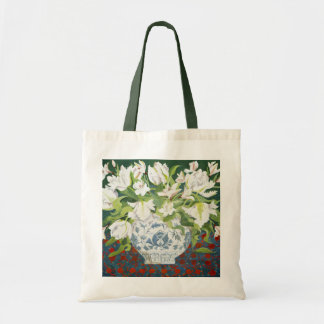 White double tulips and alstroemerias 2013 tote bag