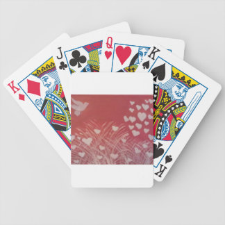 White Dove and Hearts Bicycle Poker Cards