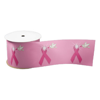 White Dove and Pink Ribbon Cancer