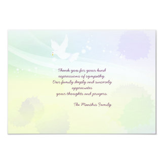 White Dove Bereavement Thank You Notecard 3.5x5 Paper Invitation Card