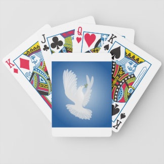White Dove Bicycle Poker Deck