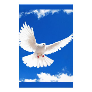 White Dove Bird Peace Love Flying Sky Stationery