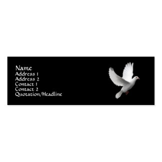 White Dove Double-Sided Mini Business Cards (Pack Of 20)