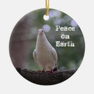 White Dove Ceramic Ornament