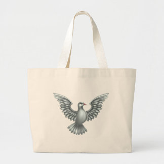 White Dove Concept Large Tote Bag