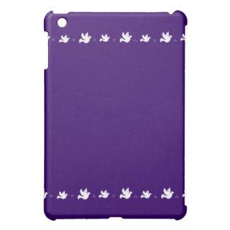 White Dove Design - Customizable Background Color Case For The iPad Mini