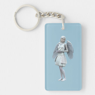 White Dove Fairy Keychain