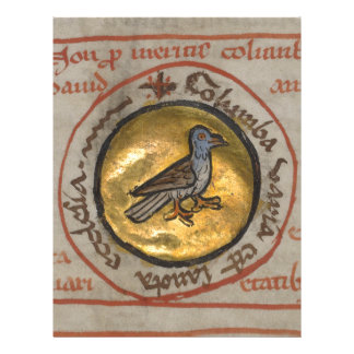 White Dove in a Gold Medallion Letterhead