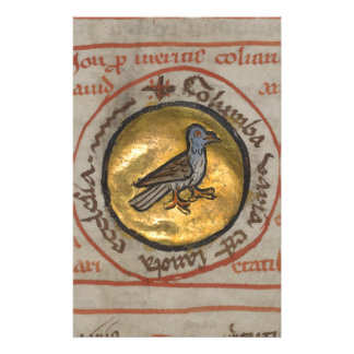 White Dove in a Gold Medallion Stationery
