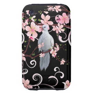 White Dove in Dogwood Blossoms iPhone 3 Tough Cover